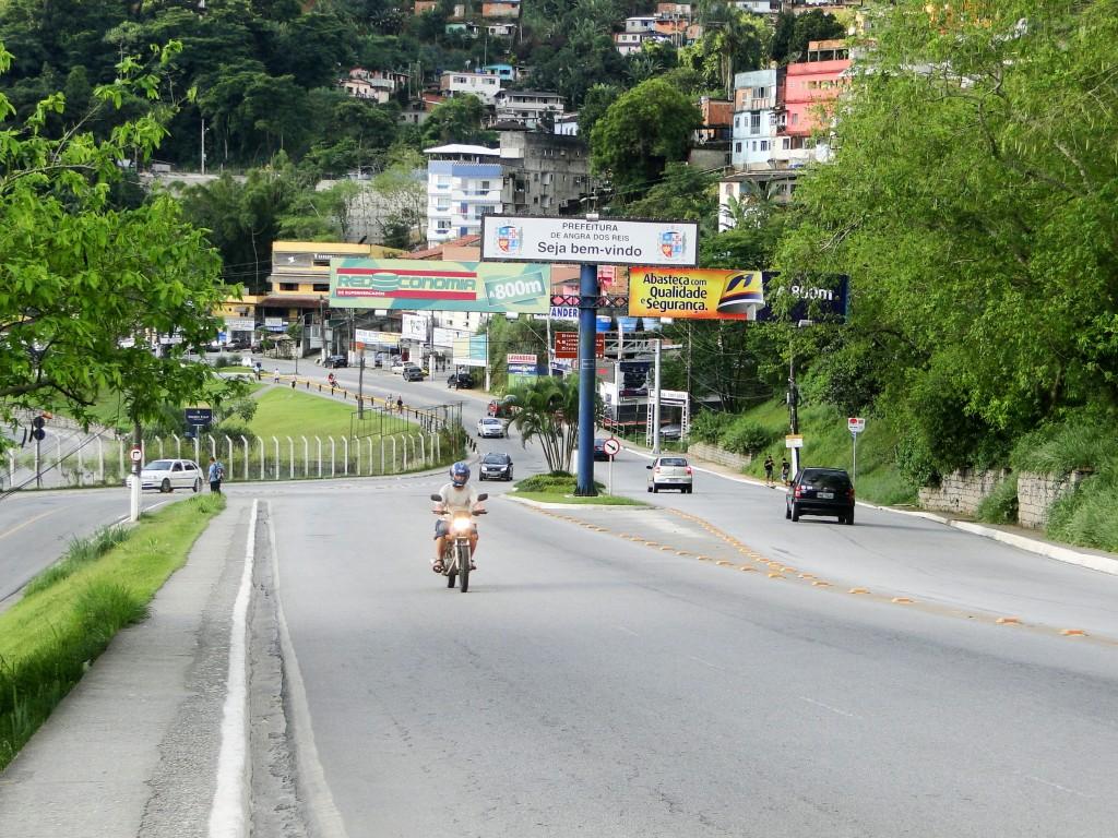 La entrada a la ciudad de Angra Dos Reis
