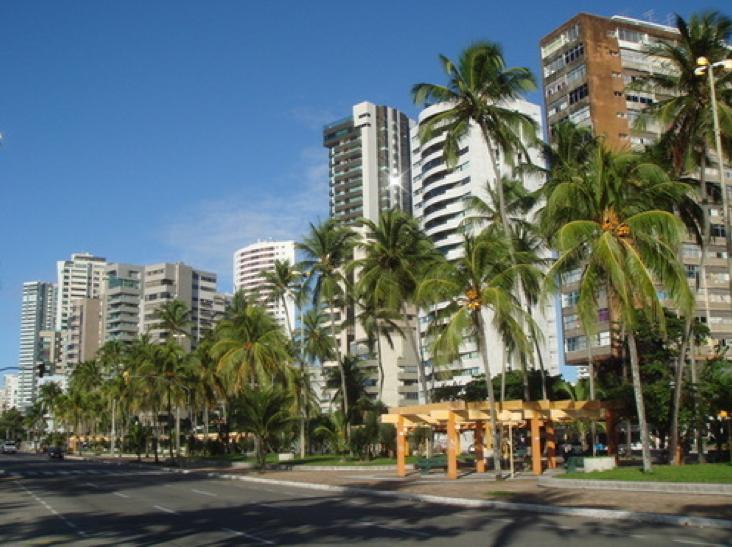 La Avenida Boa Viagem, por donde pasaba el Carnval de Recife