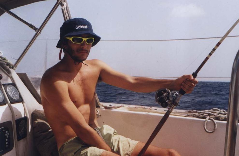 Iñaki pescando