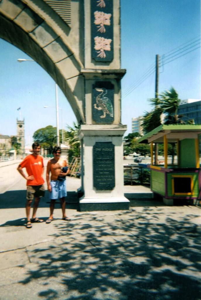 Mis dos compañeros de viaje en Bridgetown