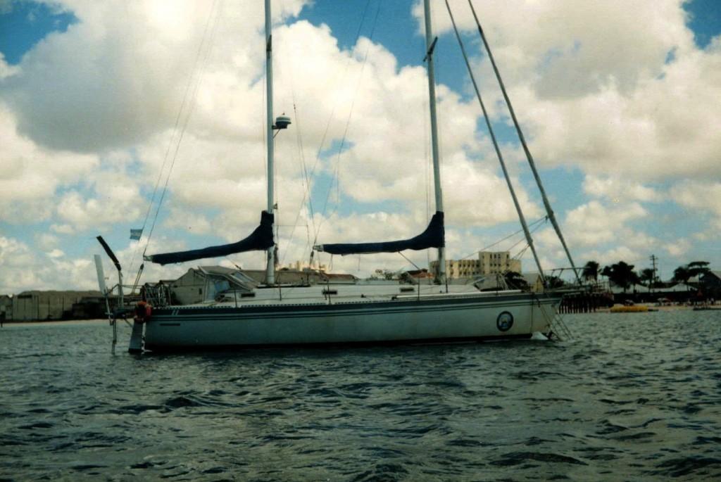 El barco visto desde el barco de Gaspar